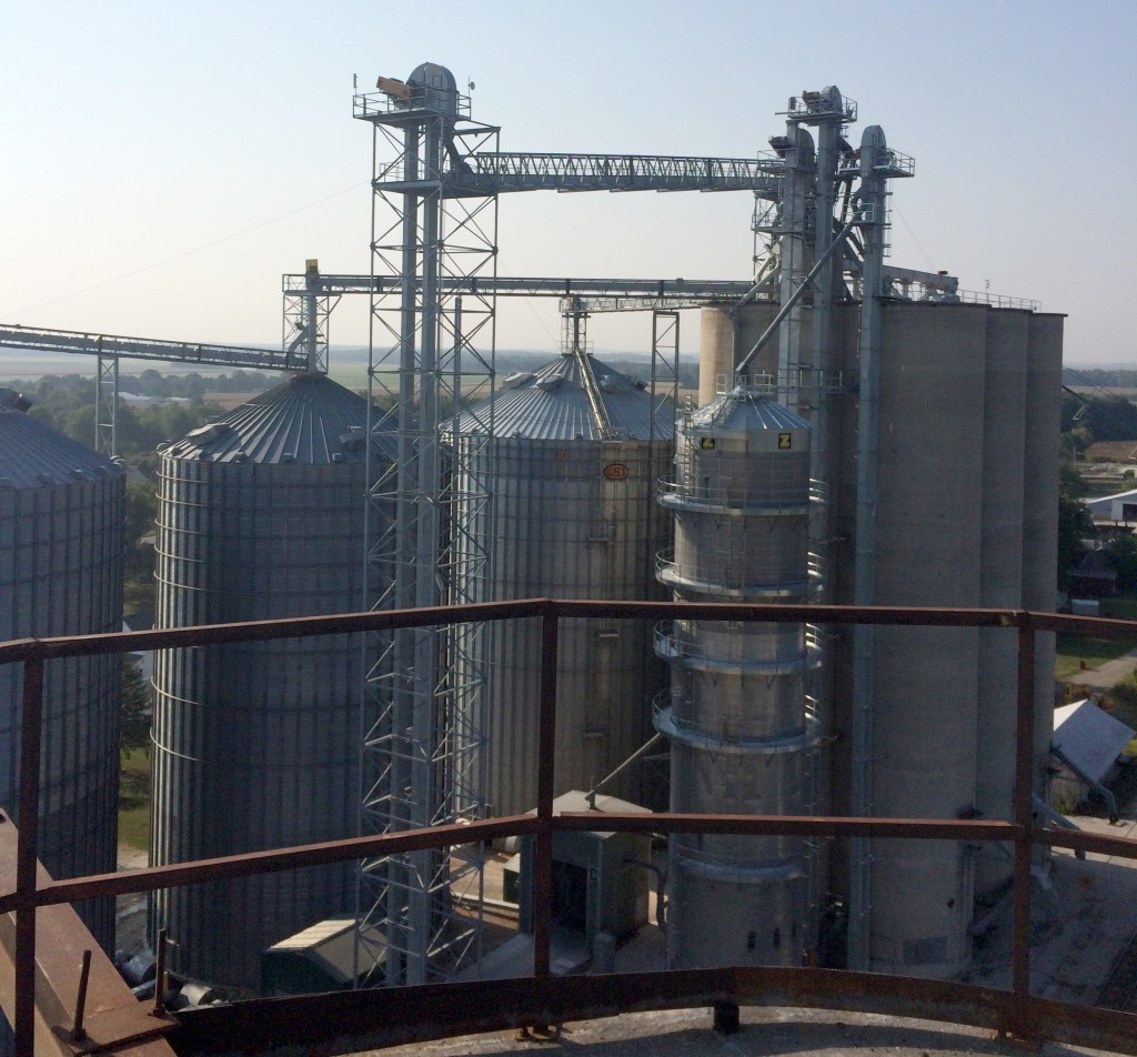 Aerial of grain system by Cleveland Grain Systems inc
